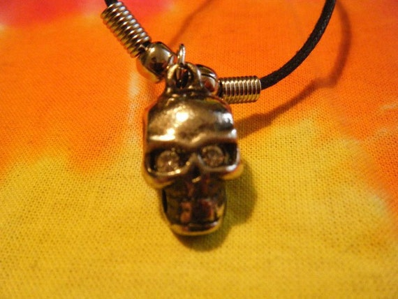AWESOME 80's Vintage Pirate Skull with diamond eyes.