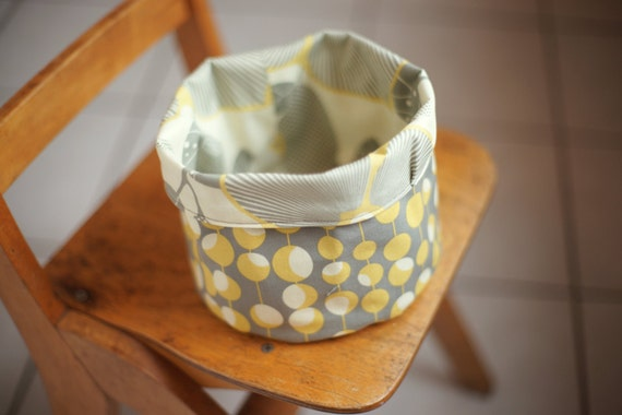 Reversible Fabric Storage Bucket