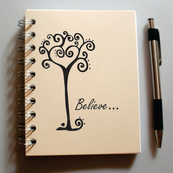 Handmade Journal - Believe in the Possibilties - Custom personalized choose cover color
