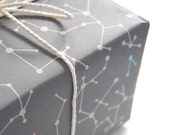 "Eco-friendly Wrapping Paper ""Gray Molecules"" Set of 2"