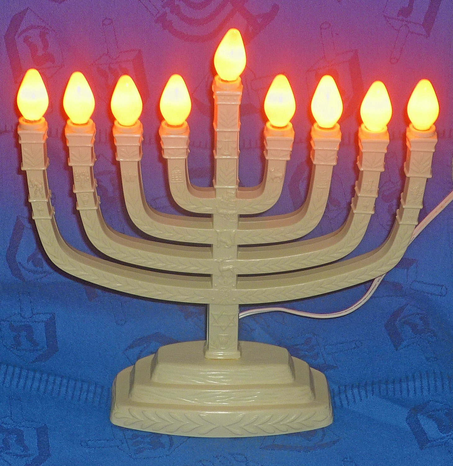 Judaica Vintage Electric Menorah Bulbs Included