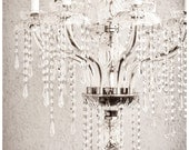 hollywood glamour, mothers day gift 16x 24 black and white fine art photograph, crystal chandelier, dramatic, glam, affordable home decor