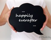 Chalkboard Speech Bubble Wedding Photo Prop Decoration, Photo Booth Party Prop