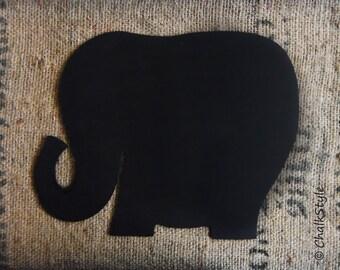 CHALKBOARD Baby Shower Decor First Birthday Chalk board or Wedding Decor Elephant Shaped Wood Chalkboard