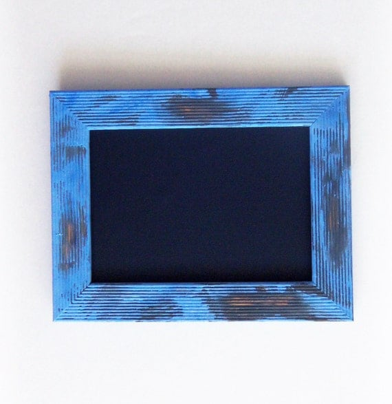 Chalkboard with Shabby Chic Frame -- Pale Blue for Wedding Tables, Photo Booth Prop, Home Decor