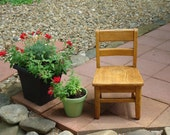 vintage Extra Small Oak Wooden Childs School Chair
