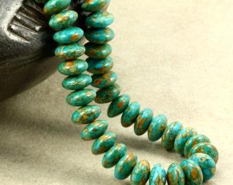 """Mosaic """"Turquoise"""" Necklace, Strand Necklace, Southwestern Necklace"""