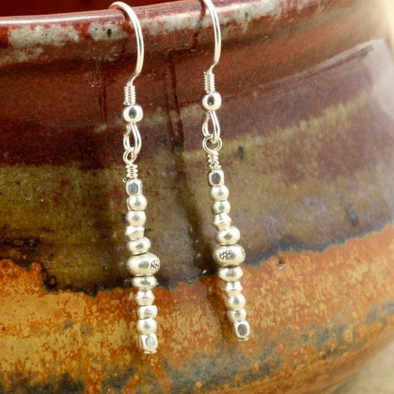Hill Tribe Silver Earrings, Dangle Earrings, Southwestern