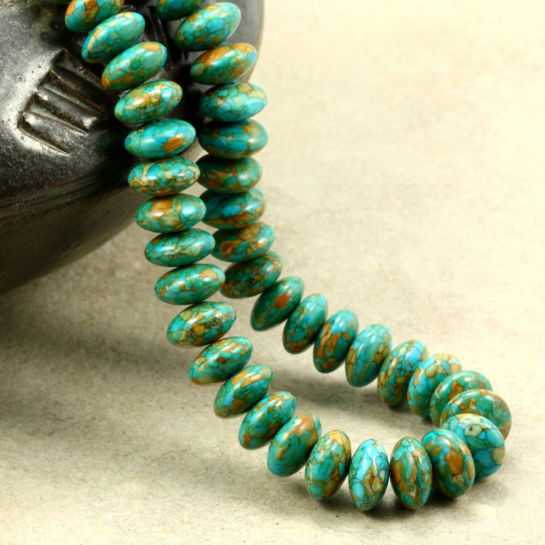 Mosaic Turquoise Necklace Strand Necklace