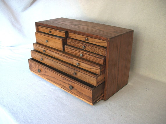 Antique Wood Machinist Chest