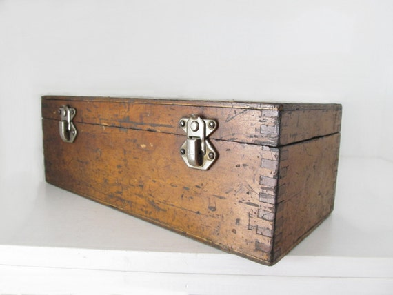 Vintage Hinged Wood Box - Glasgow, Scotland