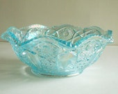 Vintage L.E. Smith Heritage Ruffled Bowl