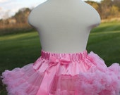 Solid Pink Pettiskirt Available in Sizes 10mos to 8yrs