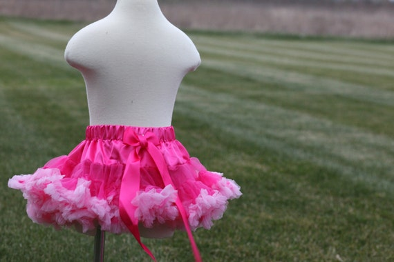 SALE 20% OFF Hot Pink Light Pink Pettiskirt Available in Sizes 10mos - 8yrs old