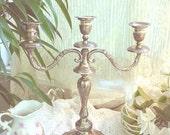 Vintage Silver Candelabra Triple & Gorgeous 2
