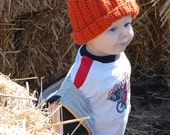 Crocheted Pumpkin Baby Hat