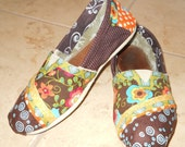 Custom Fabric Covered Toms Shoes - Cover your old Toms shoes with new material for a whole new look