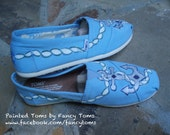 Handpainted Custom Toms Shoes - Anchors