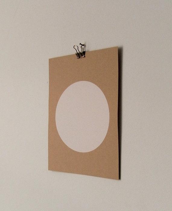 circle screenprint on paper