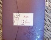 Ruby Pocketfold Wedding Invitation Set