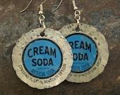 Vintage Cream Soda Bottle Cap Earrings