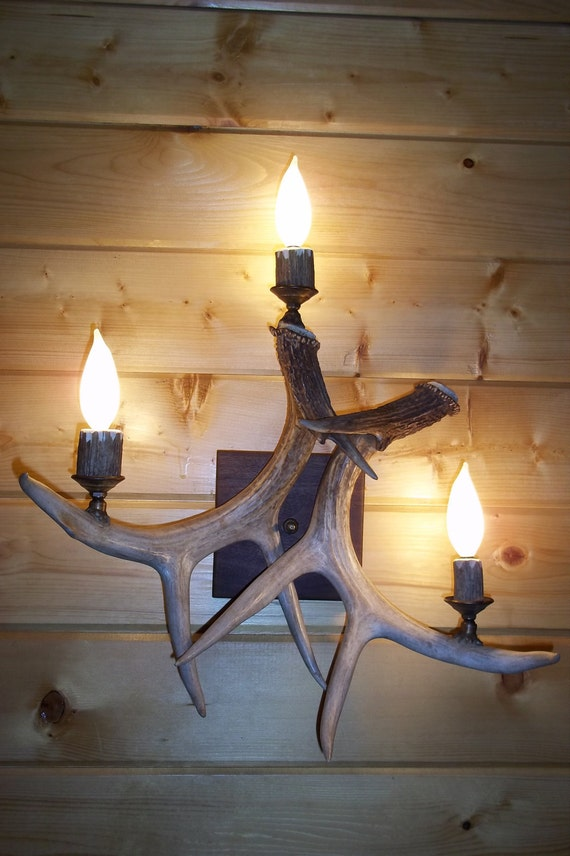 log cabin wall sconces