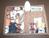 Hand Quilted Puppy Dog Mug Rug