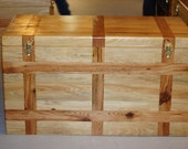 Cypress & Inlayed Antique Heart Pine Hope Chest