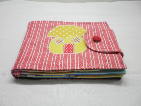 SPECIAL PRICE Quiet Book, Busy Book, Children's activity Book-Eco Friendly, Upcycled 10 pages with alphabet fabric