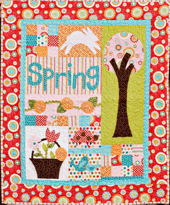 Spring Delight Applique Quilt Pattern