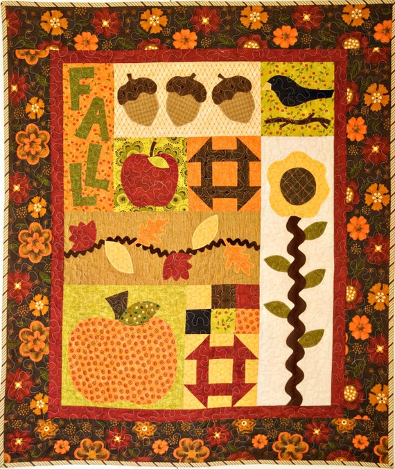 Fall Frolic Applique Quilt Pattern