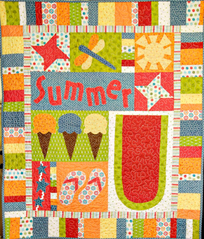 Summer Days Applique Quilt Pattern