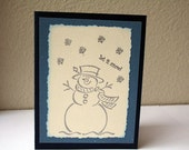 Let it Snow, Snowman Card