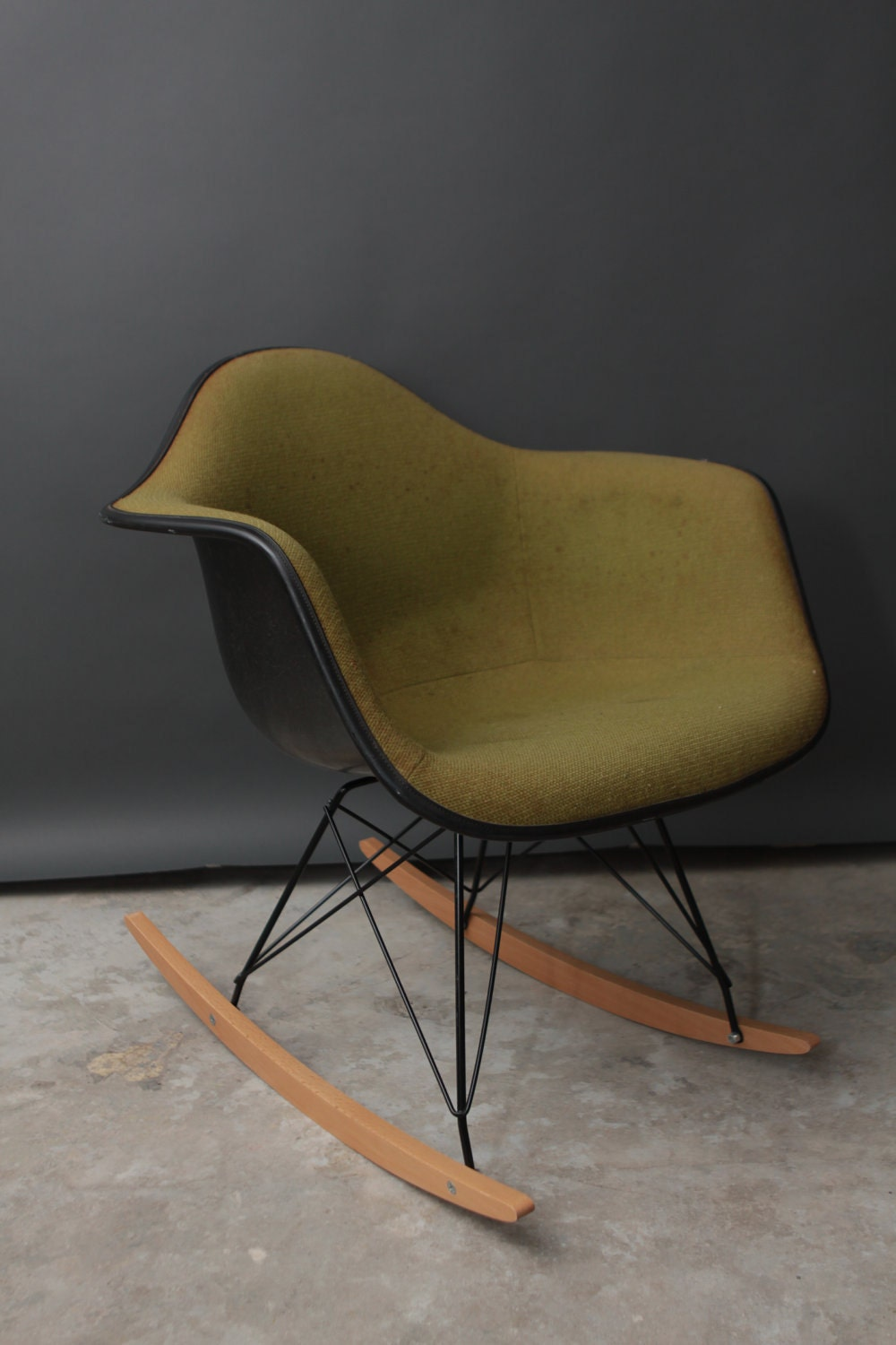 Vintage herman miller eames fabric rocking chair by thedriftingfox - Herman miller chair eames ...