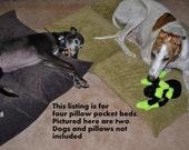 Large Dog Bed Pillow Pocket (get 4 pillow pocket dog beds)