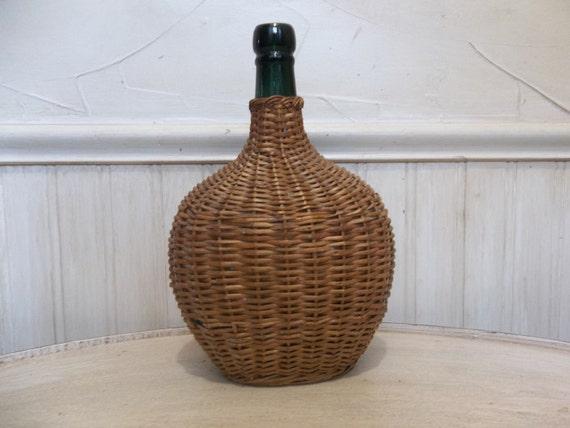 Vintage Wicker Demi John / Demi John /  Wine Bottle
