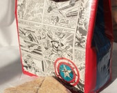 Captain America Lunch Bag - Duct Tape
