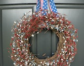 Fourth of July Berry Wreath
