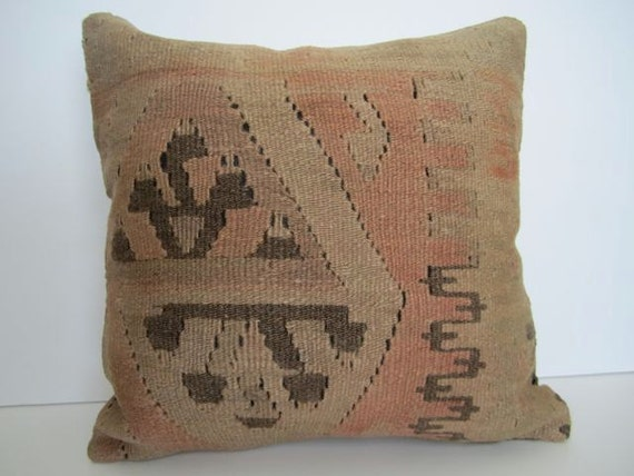 Reserved for Mary / Set of 5 Vintage Turkish Handwoven Kilim Pillow Covers, 16x16 - delivered in 2-3 days with tracking number