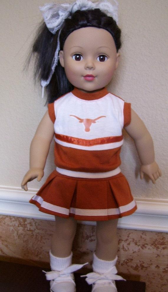 18 inch Doll Cheerleader Outfit- Texas Longhorn UT