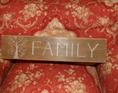 Hand Painted wood Family sign