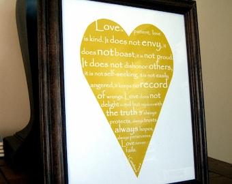 "Print - ""Love is..."" 5x7"