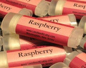 Raspberry Lip Balm, One Tube of All Natural Beeswax Lip Salve Chapstick from Lee the Beekeeper
