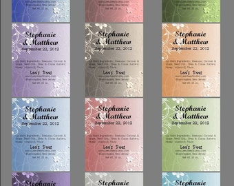 Personalized Wedding Favors - 100 Lip Balms -  Bar Bat Mitzvah, Shower, Prom, Party - Discounted USA Shipping