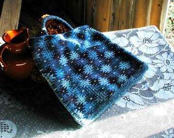 Bright Blue Zapotec Hand Bag