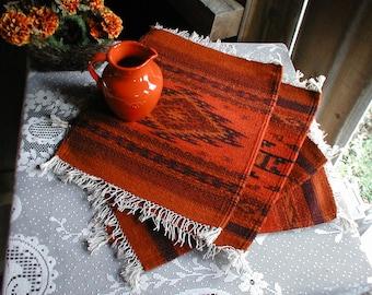 Brilliant Red Zapotec Table Accents