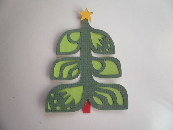 SALE-Paper Piecing-Scandinavian Christmas Tree