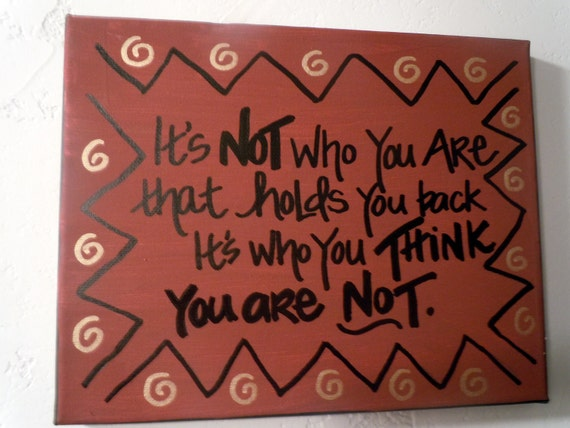 Hand-painted 8x10 canvas with inspirational quotation