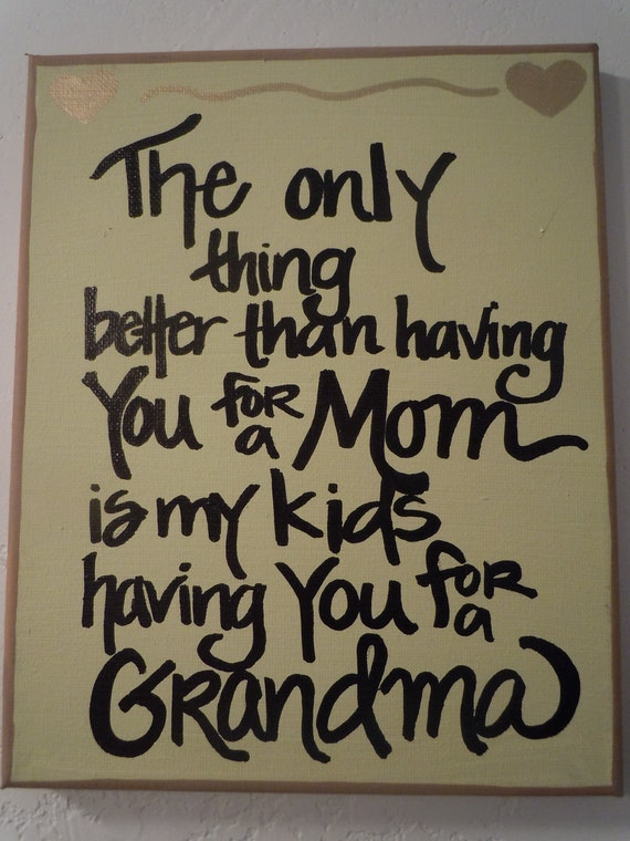Hand-painted 8x10 canvas for Mom or Grandma