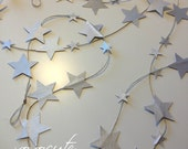 grey silver LITTLE STARS decoration - fairy little stars - baby girls nursery - 9 feet -autumn colors by xoxocute on etsy